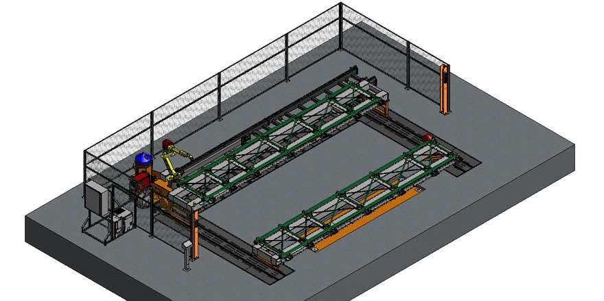 Robotic Welding for Large Upright Pallet Shelves